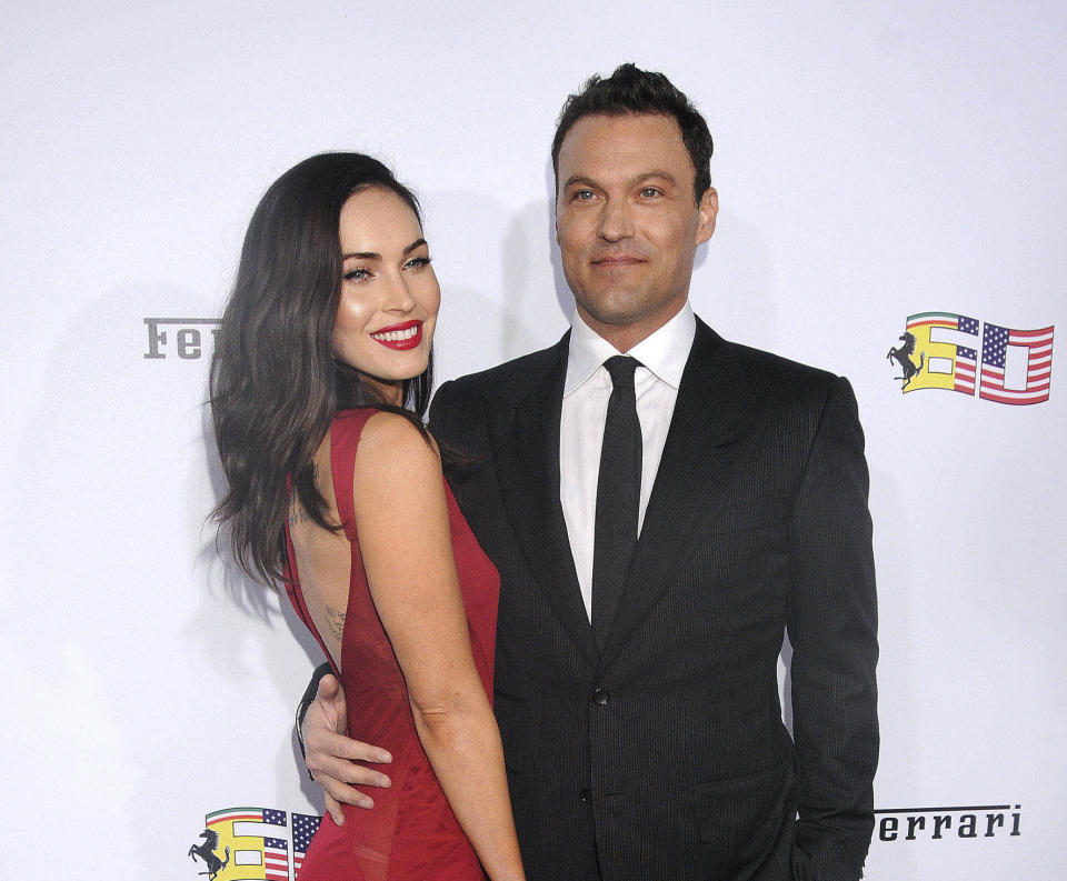 May 18th 2020 - Megan Fox and Brian Austin Green are separating after nearly ten years of marriage. - File Photo by: zz/Galaxy/STAR MAX/IPx 2014 10/11/14 Megan Fox and Brian Austin Green at Ferrari's Celebration Of 60 Years In The USA held on October 11, 2014 at The Wallis Annenberg Center For The Performing Arts in Beverly Hills, CA.