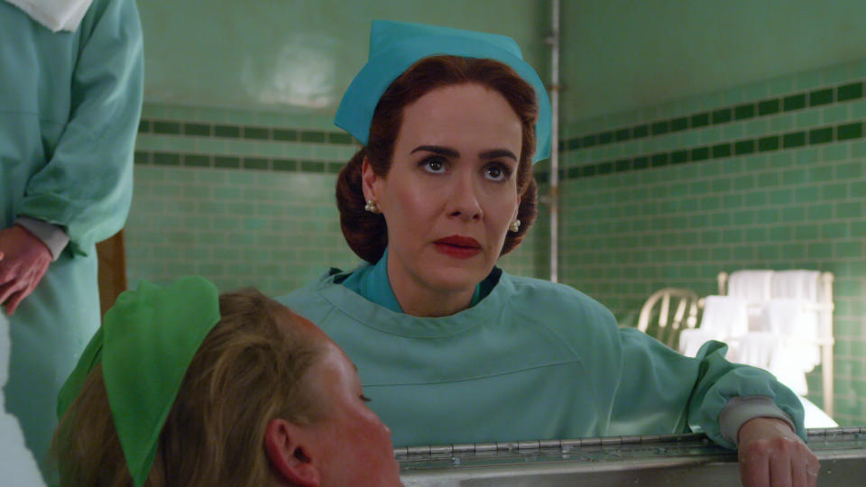 Sarah Paulson plays the title role in Netflix series 'Ratched'. (Credit: Netflix)