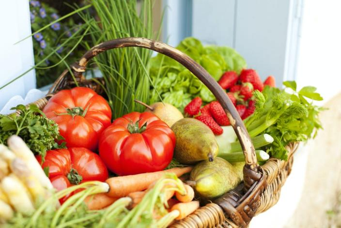 """<span class=""""caption"""">Eating lots of fruits and vegetables will boost the immune system.</span> <span class=""""attribution""""><a class=""""link rapid-noclick-resp"""" href=""""https://www.gettyimages.com/detail/photo/basket-full-of-fresh-fruit-and-vegetables-royalty-free-image/536148506?adppopup=true"""" rel=""""nofollow noopener"""" target=""""_blank"""" data-ylk=""""slk:Stevens Fremont via Getty Images"""">Stevens Fremont via Getty Images</a></span>"""