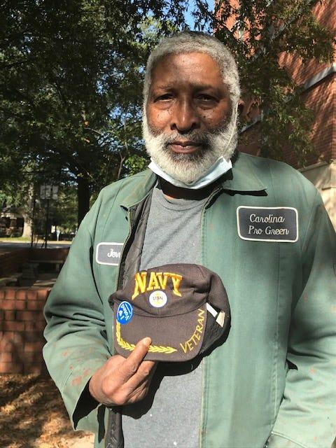 Jerry Kelly, 65, a retired steelworker from Columbia, South Carolina, couldn't vote fast enough for Joe Biden. He said President Donald Trump's handling of the coronavirus, which is disproportionately killing people of color, is one big reason.