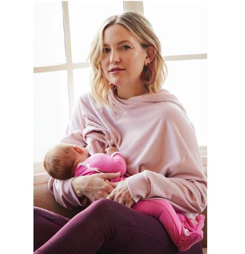 "<p>Proving that celebrities face the same work/motherhood juggles as any new mums, Kate Hudson has shared a picture of her breastfeeding her baby daughter while on the job.<br />Kate, who welcomed her third child (her first with boyfriend Danny Fujikawa) in October, is back at work and bringing her three-month-old daughter, Rani Rose, with her.<br />""When you're workin but babies gotta eat,"" she captioned the candid shot which was captured by photographer Nino Muñoz. <em>[Photo: Instagram]</em> </p>"
