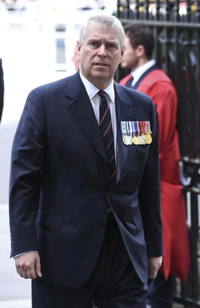 Prince Andrew wasn't off limits either. Photo by: zz/KGC-03/STAR MAX/IPx (London, England, UK)