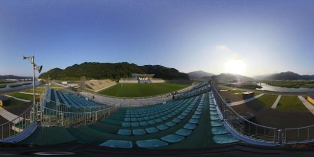 The Kamaishi Unosumai Memorial stadium will host two matches at the Rugby World Cup (AFP Photo/CHARLY TRIBALLEAU)