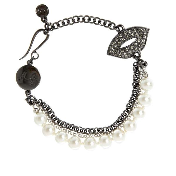 "<b>Lulu Guinness for Cocosa:</b> <a target=""_blank"" href=""https://www.cocosa.com/Sale/?sid=16572&catid=Women#"">Cream pearl charm bracelet</a> £35 Was £95"