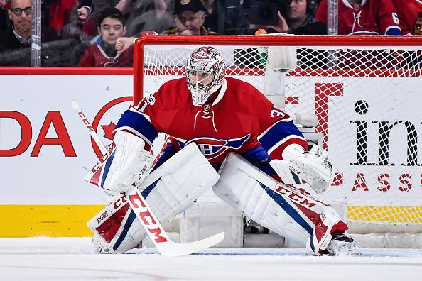 "<a class=""link rapid-noclick-resp"" href=""/nhl/players/3782/"" data-ylk=""slk:Carey Price"">Carey Price</a> of the <a class=""link rapid-noclick-resp"" href=""/nhl/teams/mon/"" data-ylk=""slk:Montreal Canadiens"">Montreal Canadiens</a> gets into position during the NHL game against the <a class=""link rapid-noclick-resp"" href=""/nhl/teams/chi/"" data-ylk=""slk:Chicago Blackhawks"">Chicago Blackhawks</a> at the Bell Centre on March 14, 2017 in Montreal, Quebec, Canada. The Chicago Blackhawks defeated the Montreal Canadiens 4-2. (Getty Images)"