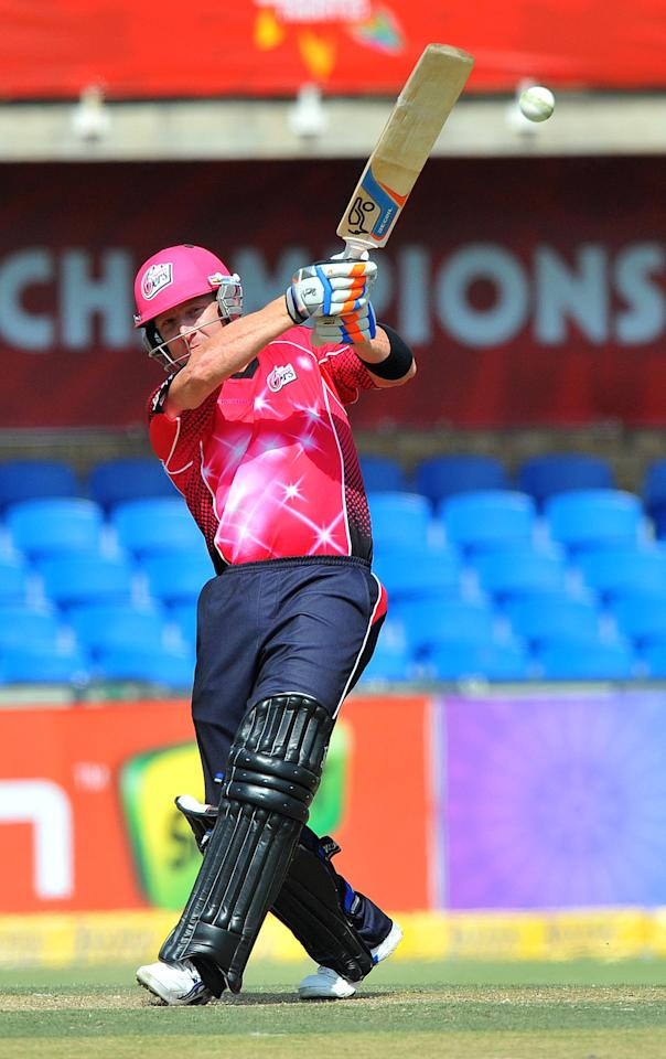 JOHANNESBURG, SOUTH AFRICA - OCTOBER 14:  Brad Haddin of the Sixers in action during the Champions League Twenty20 match between Chennai Super Kings and Sydney Sixers at Bidvest Wanderers Stadium on October 14, 2012 in Johannesburg, South Africa. (Photo by Duif du Toit / Gallo Images/Getty Images)