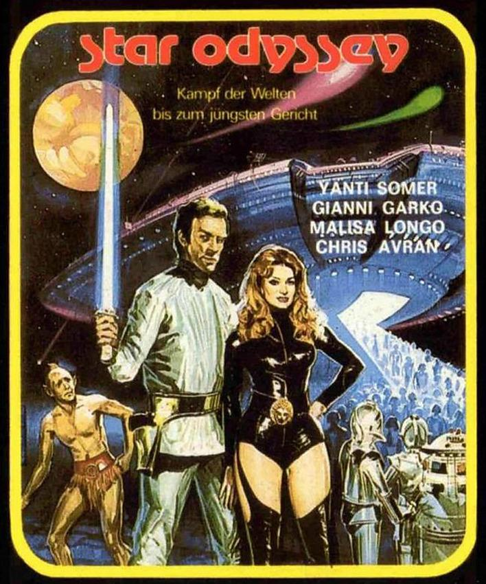 <p>Italian director Alfonso Brescia was, if nothing else, a savvy businessman: the B-movie helmer directed four sci-fi movies in 1978, and <i>Star Odyssey</i> was the most obviously indebted to <i>Star Wars </i>(virtually every character gets a lightsaber). It's probably the cheapest-looking, shoddiest-made of all of these. (Photo: Nais Film)</p>