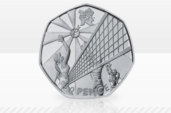 2012 Olympics volleyball 50p