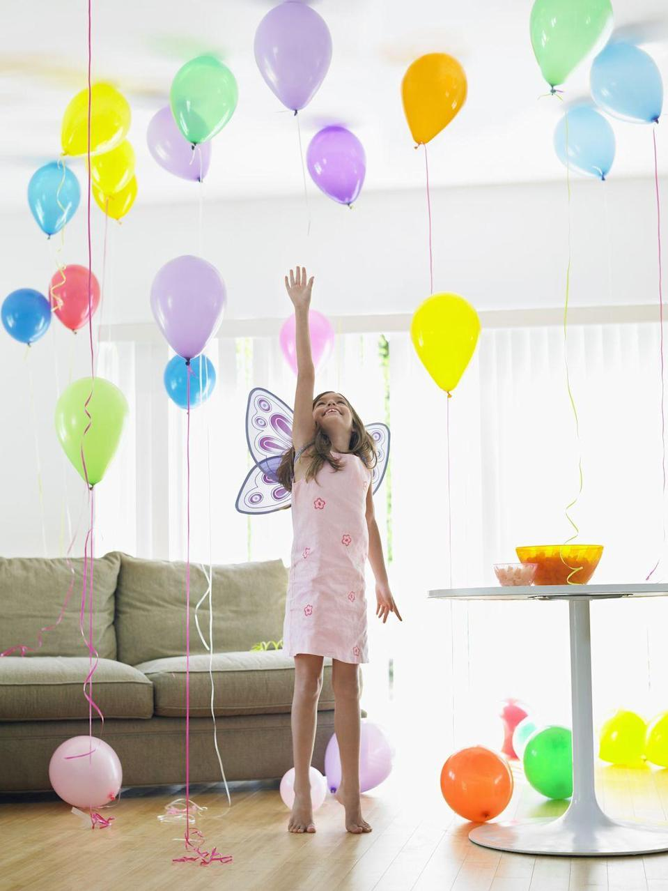 """<p>You can capture that whimsy and fun of a costume party over Zoom. Come up with a theme. (Think: a virtual masquerade ball, a 1970s extravaganza, a <em><a href=""""https://www.oprahmag.com/entertainment/a32174214/tiger-king-netflix-dress-up-parties-quarantine/"""" rel=""""nofollow noopener"""" target=""""_blank"""" data-ylk=""""slk:Tiger King"""" class=""""link rapid-noclick-resp"""">Tiger King</a> </em>dress-up, or a mermaid party.) Or allow yourself to be surprised by what people choose to wear. Extra points if you only use items you already have around the house! This will give guests time to get excited for your shin-dig as they search their closets for options. </p><p><a class=""""link rapid-noclick-resp"""" href=""""https://www.amazon.com/Cutie-Collections-Butterfly-Costume-Dress-up/dp/B001GTKPDQ/?tag=syn-yahoo-20&ascsubtag=%5Bartid%7C10072.g.32466287%5Bsrc%7Cyahoo-us"""" rel=""""nofollow noopener"""" target=""""_blank"""" data-ylk=""""slk:SHOP FAIRY WINGS"""">SHOP FAIRY WINGS</a></p>"""