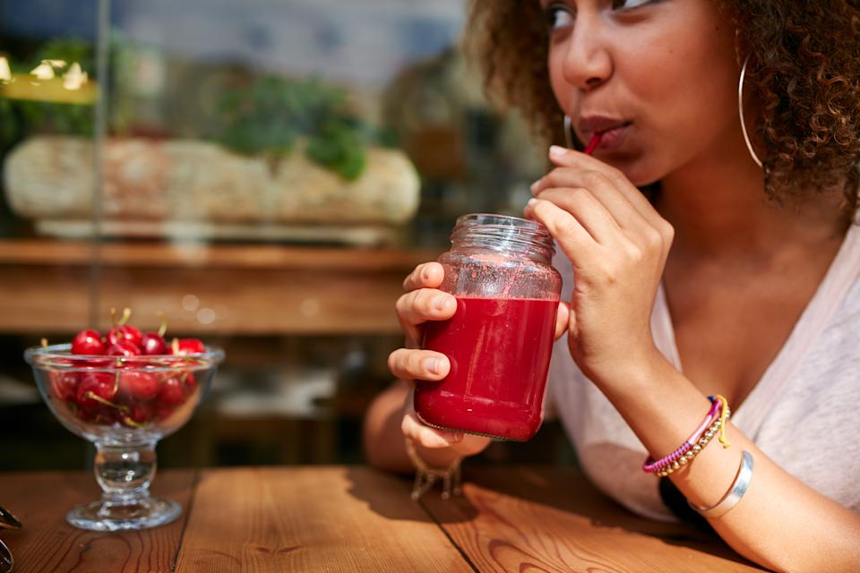 Space out alcoholic drinks with water, juice or mocktails (posed by model, Getty)