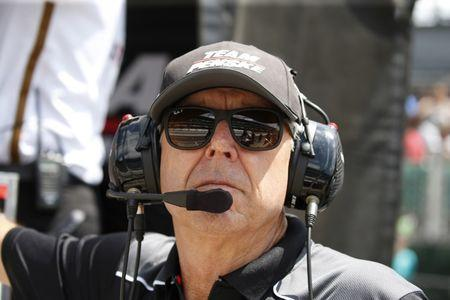 FILE PHOTO: May 18, 2017; Indianapolis, IN, USA; Four time Indy 500 winner Rick Mears watches from the pits during practice for the 101st Running of the Indianapolis 500 at Indianapolis Motor Speedway. Mandatory Credit: Brian Spurlock-USA TODAY Sports