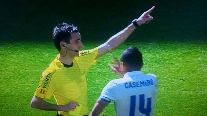 BODY ONLY Casemiro Real Madrid reaction