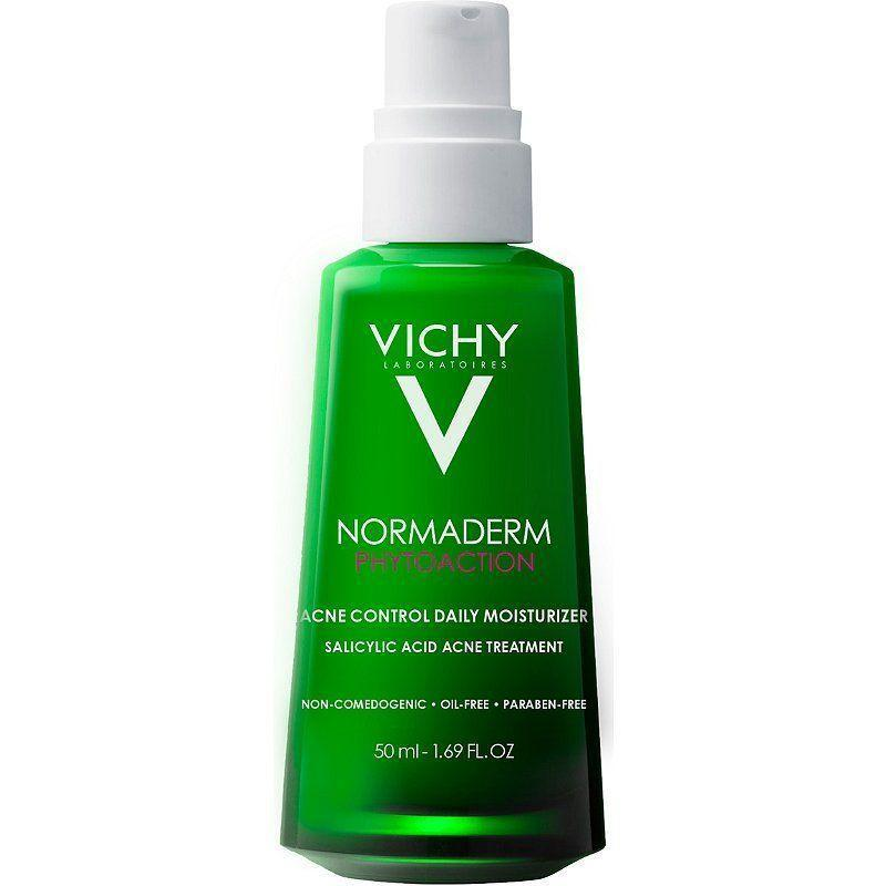 """<p><strong>Vichy</strong></p><p>amazon.com</p><p><strong>$29.50</strong></p><p><a href=""""https://www.amazon.com/dp/B07NQ8BVXM?tag=syn-yahoo-20&ascsubtag=%5Bartid%7C10051.g.37014835%5Bsrc%7Cyahoo-us"""" rel=""""nofollow noopener"""" target=""""_blank"""" data-ylk=""""slk:Shop Now"""" class=""""link rapid-noclick-resp"""">Shop Now</a></p><p>For oily and acne-prone skin, this moisturizer gives your skin the hydration it needs–so your pores don't overproduce oil and cause yet more breakouts–without clogging pores or leaving you looking like a disco ball.</p>"""