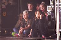<p>When your dad is the lead singer of Bush and your mom is Gwen Stefani, watching a concert backstage must seem pretty normal, but not from where we're sitting. In 2015, Gwen and her children, Kingston and Zuma, watched their dad perform with his band in England. </p>