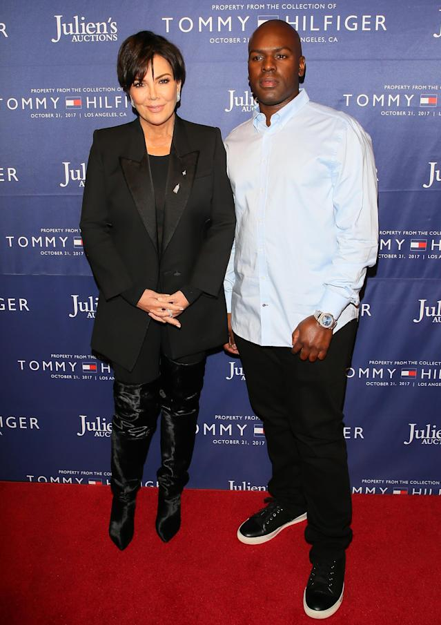 Kris Jenner and Corey Gamble attend Julien's Auctions and Tommy Hilfiger VIP reception on Oct. 19, in Los Angeles. (Photo: JB Lacroix/WireImage)