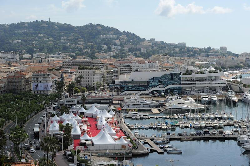 General view of the venue at the 65th international film festival, in Cannes, southern France, Tuesday, May 15, 2012. (AP Photo/Jonathan Short)