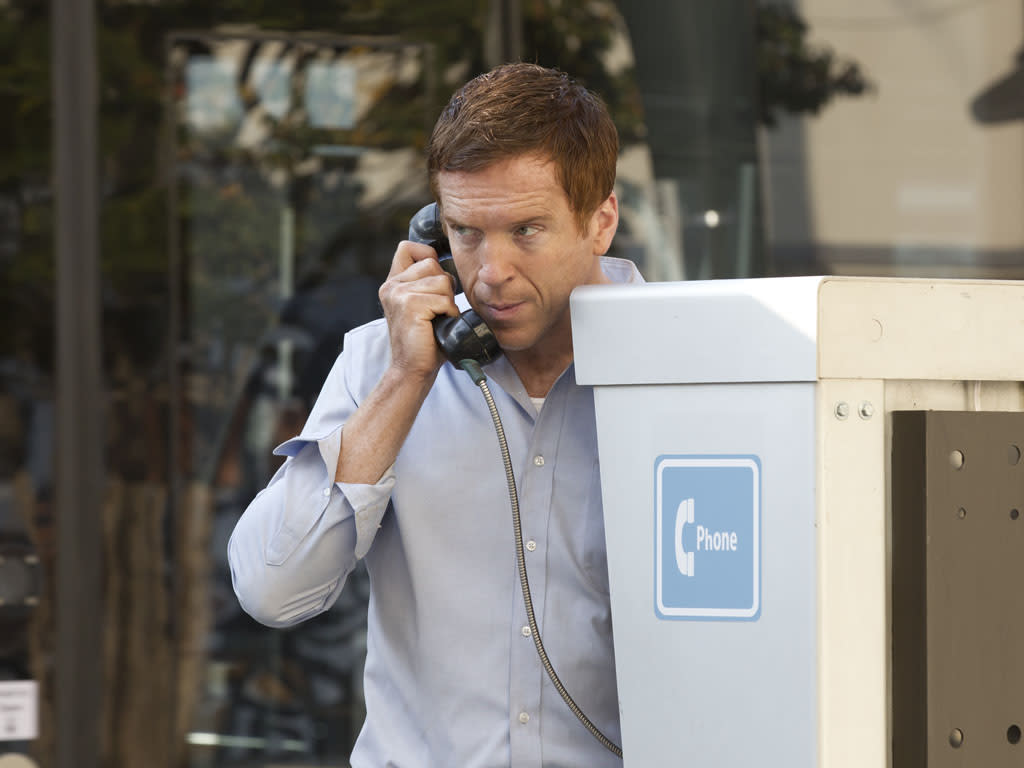 "Damian Lewis as Nicholas ""Nick"" Brody in the ""Homeland"" Season 2 episode, ""Two Hats."""