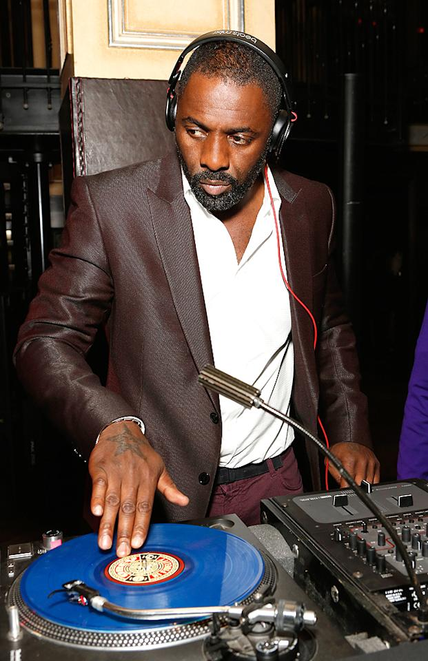 "Idris Elba served as the DJ at the afterparty. Here's a little known fact: The ""Prometheus"" and ""The Wire"" actor has been spinning records since 1986, which is the year he helped an uncle launch a wedding-DJ business. He also co-produced a track on Jay-Z's 2007 album, <em>American Gangster</em>. (10/13/2012)"