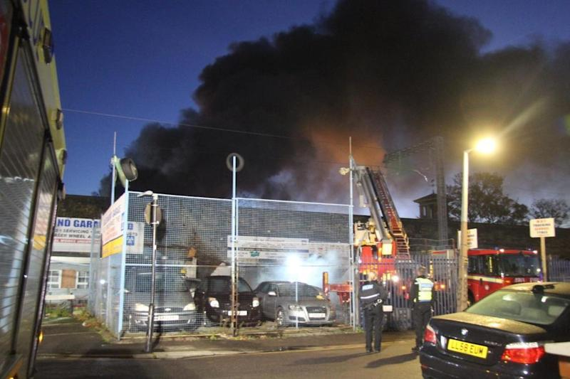 The scene of a fire in Walthamstow in the early hours of Sunday morning (Paul Wood)