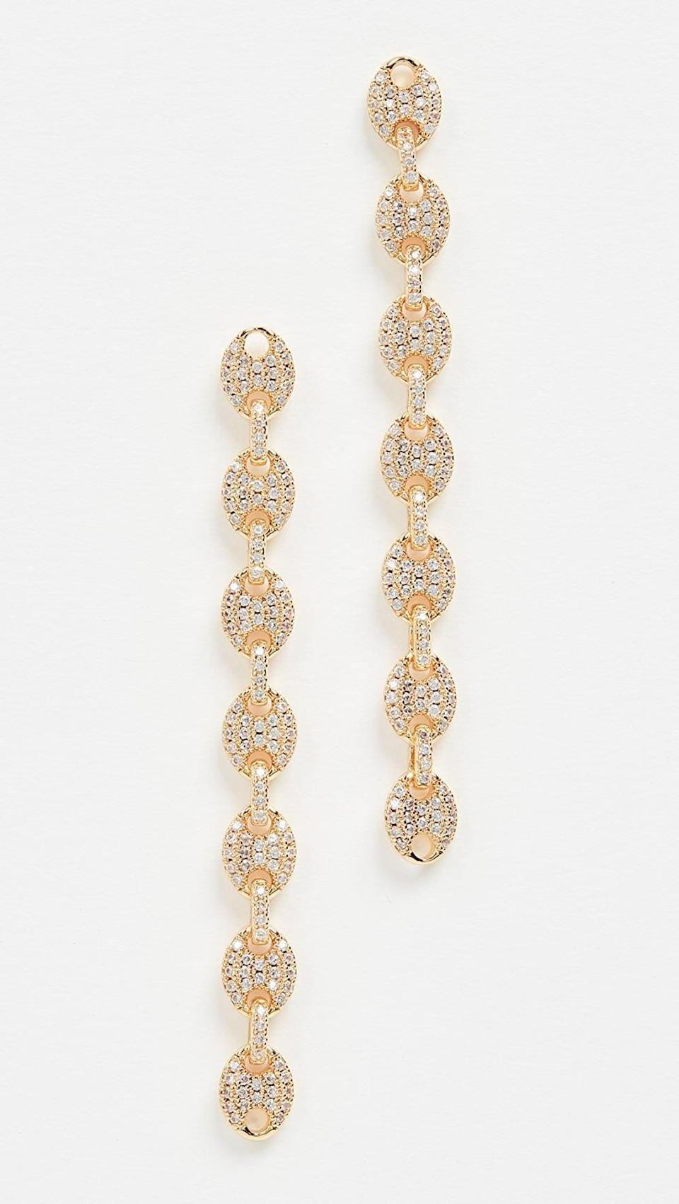 <p>These <span>Luv Aj Pave Mariner Link Earrings</span> ($75) are gorgeous and so statement-making.</p>