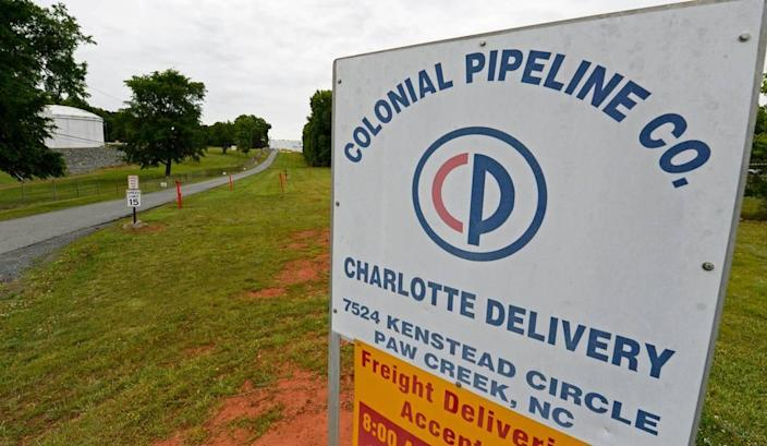 The Colonial Pipeline facility off Kenstead Road in northwest Charlotte on Wednesday, May 12, 2021.