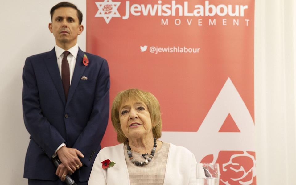 Mike Katz and Dame Margaret Hodge, Parliamentary Chair of the Jewish Labour Movement - Ian Vogler/Daily Mirror/PA