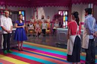 """<p>The title of this Australian baking show is self-explanatory. <em>Zumbo's Just Desserts</em> really <em>only </em>features desserts—not a savory bite in sight. Pastry chefs attempt to bake their way to a $100,000 prize, with baker Adriano Zumbo presiding over the action. Think <em>Great British Baking Show</em>, but instead of taking place in a tent, the action unfolds in a colorful, Wonka-inspired setting. </p><p><a class=""""link rapid-noclick-resp"""" href=""""https://www.netflix.com/watch/80204927?source=35"""" rel=""""nofollow noopener"""" target=""""_blank"""" data-ylk=""""slk:Watch Now"""">Watch Now</a></p>"""