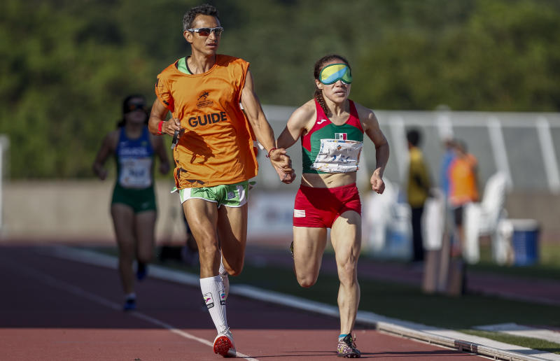 SAO PAULO, BRAZIL - APRIL 26: Monica Olivia Rodriguez Saavedra of Mexico competes in the 1500-meter women's final A at Brazilian Paralympic Training Center on April 26, 2019 in Sao Paulo, Brazil. (Photo by Miguel Schincariol/Getty Images)
