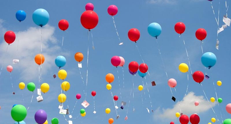 Balloon releases are often used to honour the passing of loved ones but many are landing in the ocean. Source: Getty