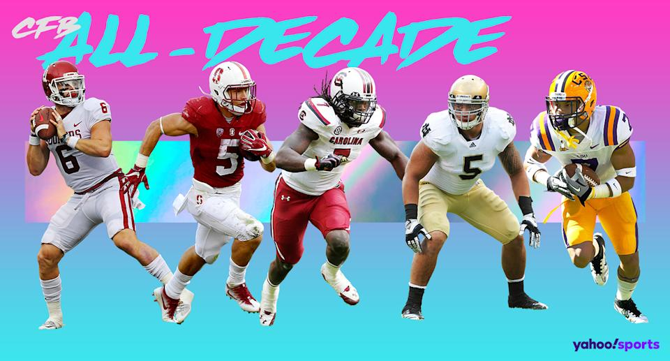Who made the Yahoo Sports college football all-decade team? (Yahoo Sports illustration)