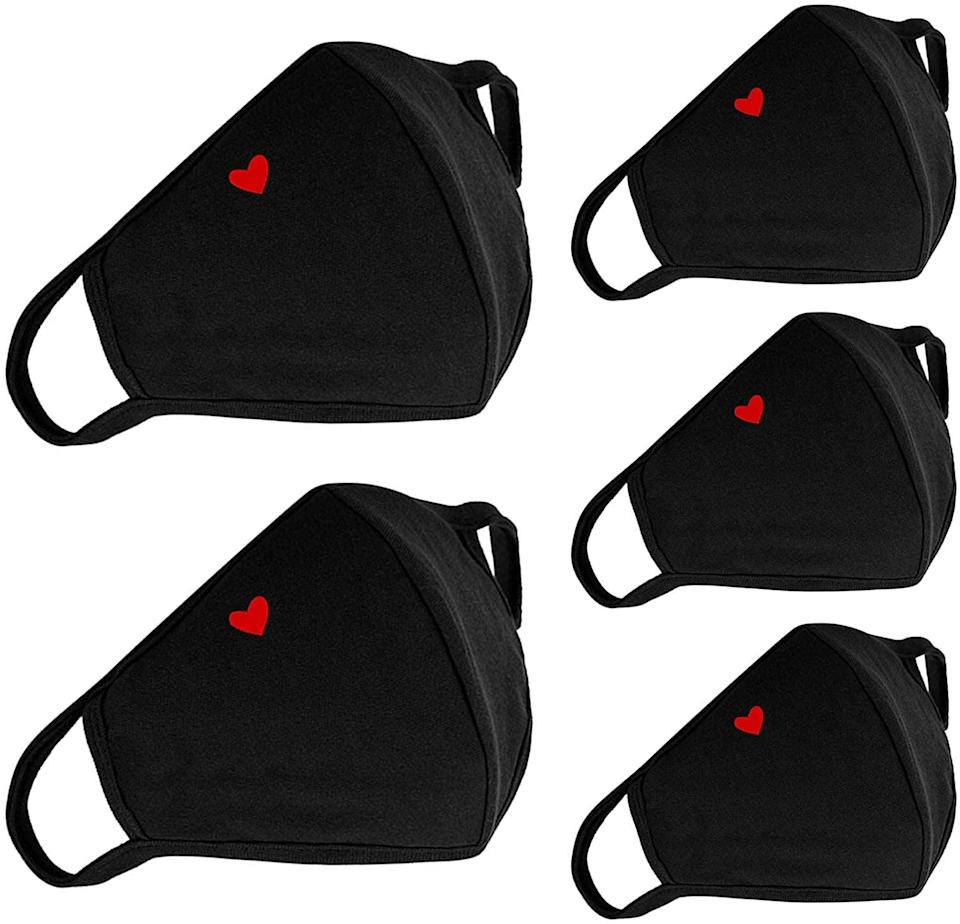 <p>This <span>5-Pack Cute Heart Face Protection</span> ($13, originally $15) makes us smile.</p>