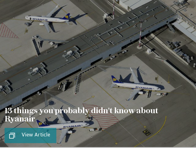 13 things you never knew about Ryanair