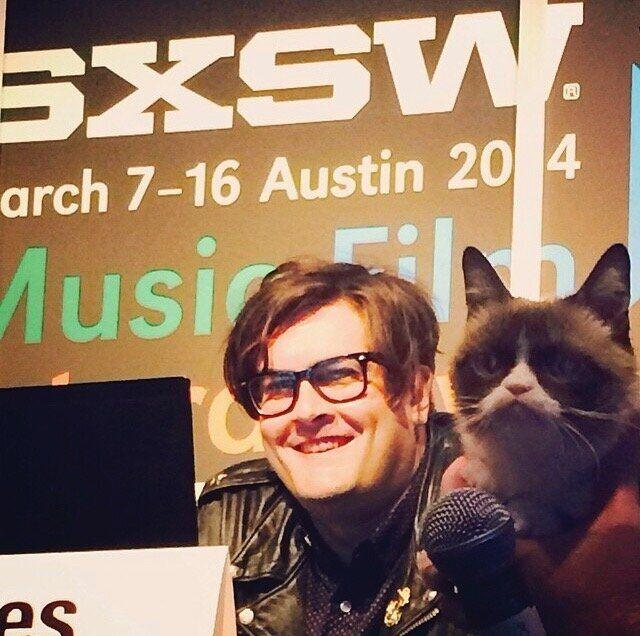 Ben Lashes and Grumpy Cat at South by Southwest. (Photo: Ben Lashes)