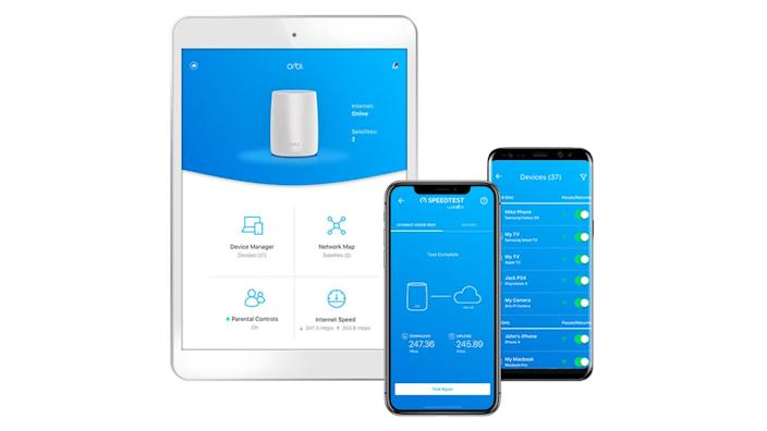 The Orbi app helps with setting up, managing devices, creating a guest network, and more.