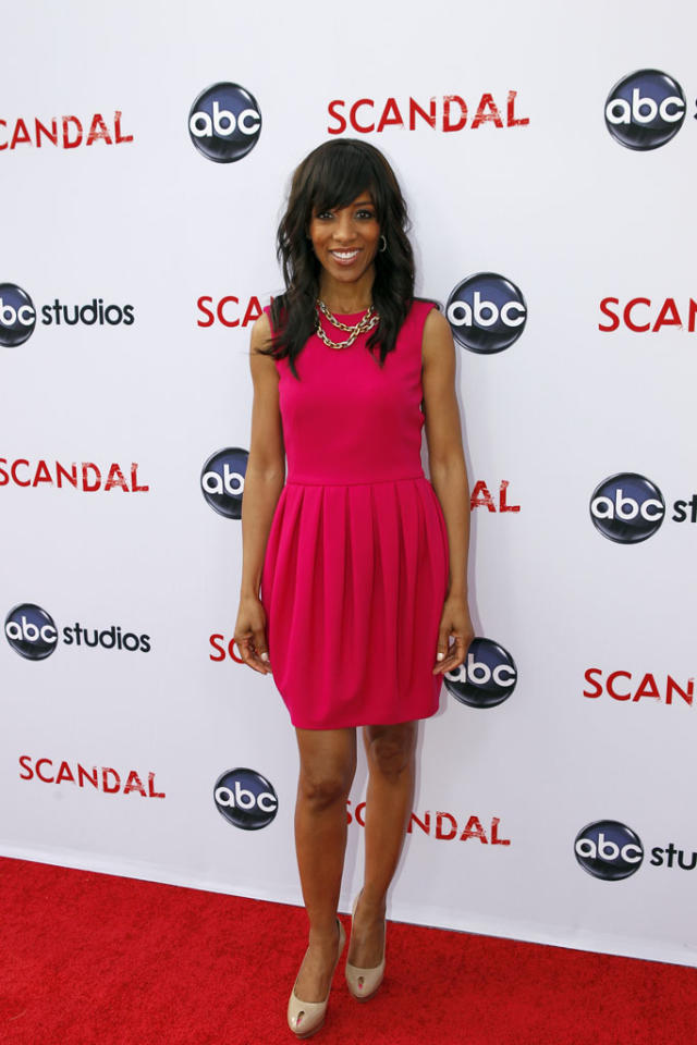 "Shaun Robinson attends ""An Evening with Scandal"" at The Academy of Television Arts & Sciences for their season finale table read and Q&A on Thursday, May 16, 2013."