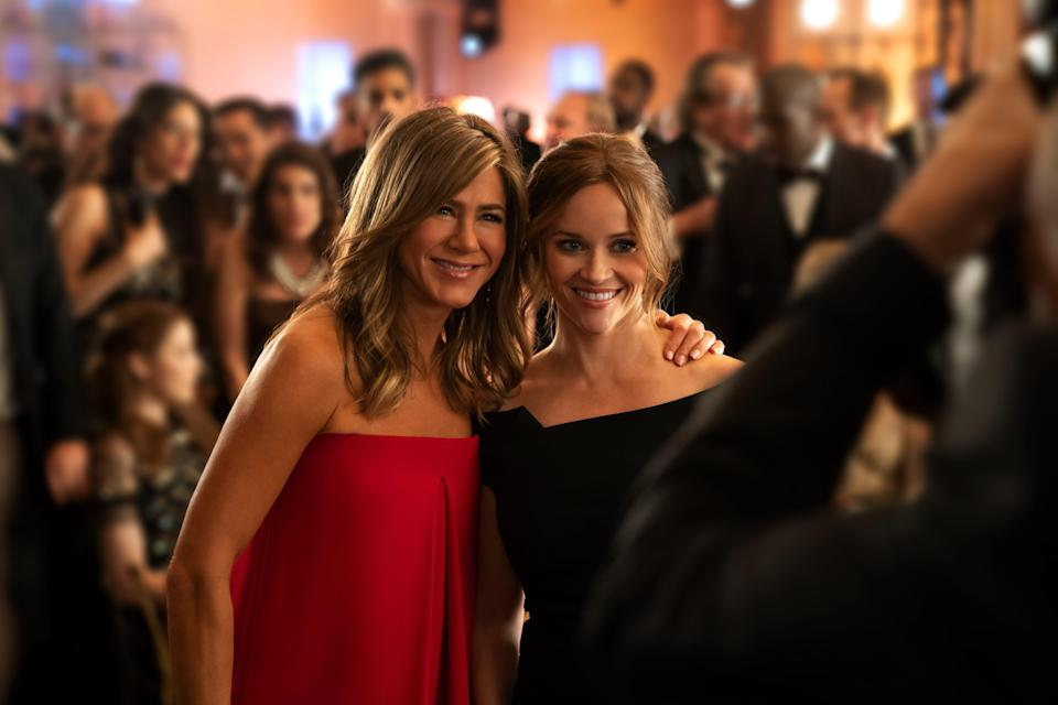 """Jennifer Aniston and Reese Witherspoon star in the new Apple TV Plus series """"The Morning Show."""""""