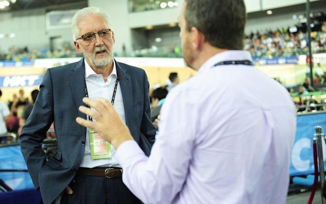Brian Cookson, International Cycling Union president, spoke in Hong Kong about his disappointment at not being contacted by the team behind the independent review - Rex Features
