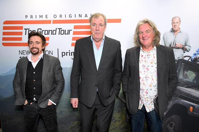Richard Hammond, Jeremy Clarkson and James May attend a screening of 'The Grand Tour' season 3 held at The Brewery on January 15, 2019 in London, England. (Photo by Dave J Hogan/Getty Images)