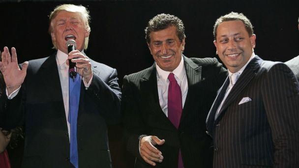 PHOTO: Donald Trump, Tevfik Arif and Felix Sater attend the Trump Soho Launch Party, on Sept. 19, 2007 in New York City. (Mark Von Holden/Getty Images)