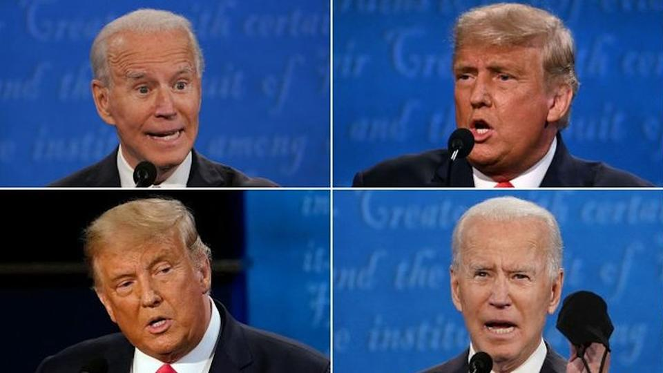 Joe Biden e Donald Trump no debate