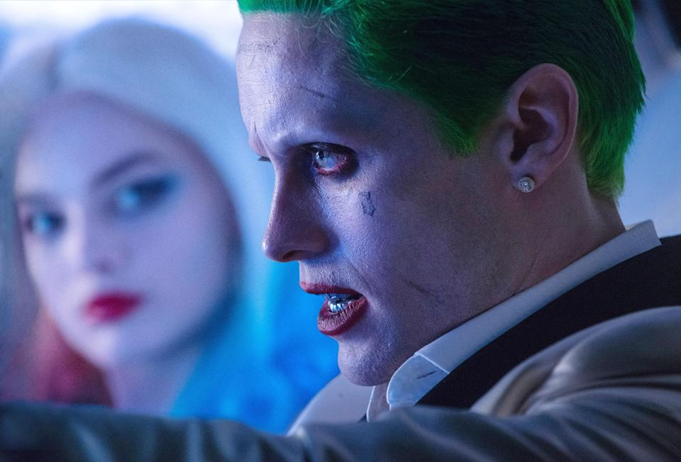 Harley Quinn (Robbie) and the Joker (Jared Leto) in happier times in 'Suicide Squad' (Photo: Clay Enos/Warner Bros./Courtesy Everett Collection)