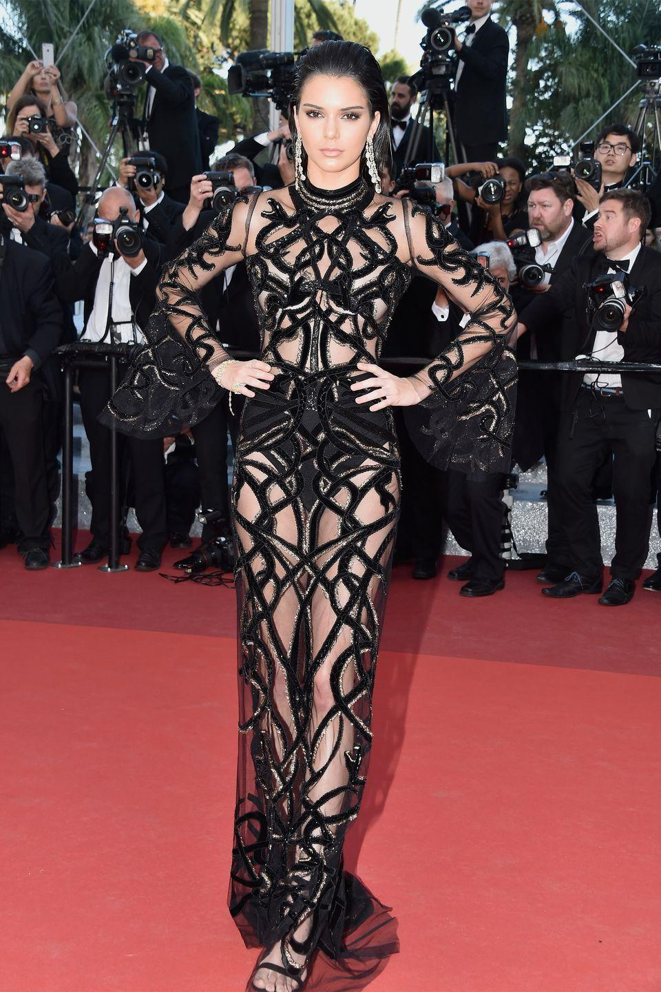 <p>Kendall Jenner in Roberto Cavalli</p>