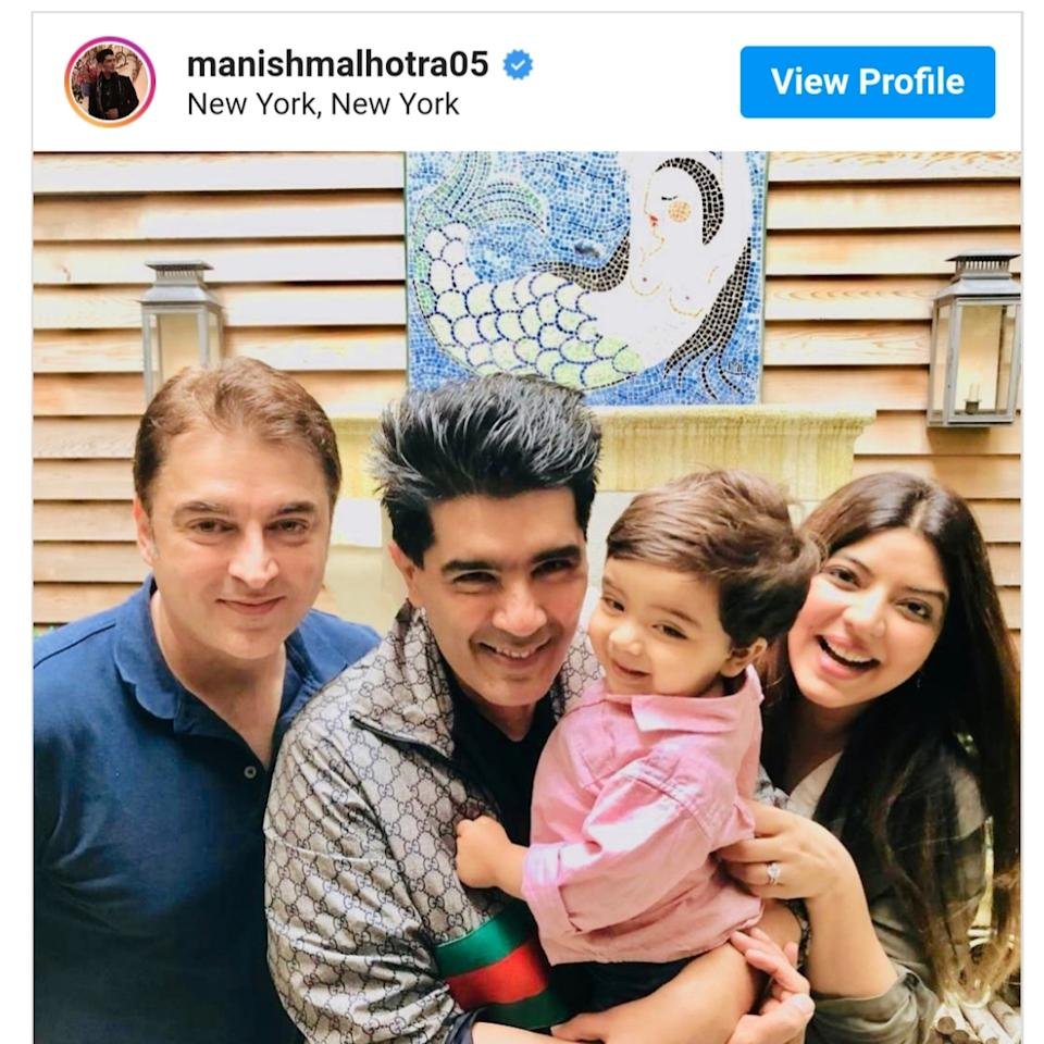 In June 2019, celeb fashion designer Manish Malhotra broke to us that the couple is now proud parents to a precious little baby boy. The kid, having hit the genetic jackpot, is a total charmer.