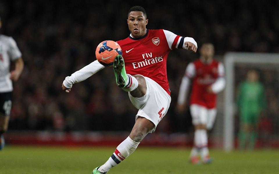 Gnabry in action for Arsenal in 2014 - GETTY IMAGES