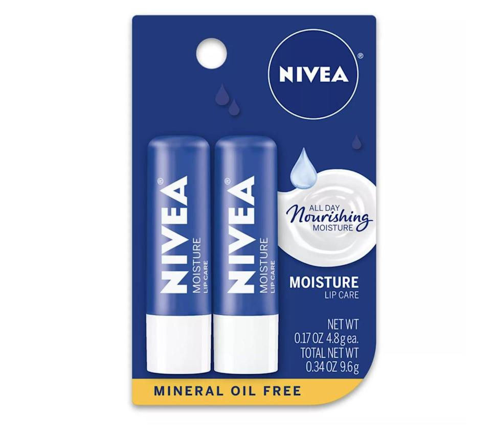 """<p>""""I will try pretty much any lip balm put in front of me, but my all-time favorite is the <span>classic Nivea stick</span> ($4). The shea butter gives it a silky texture and a mild natural scent that's addictive."""" - Nancy Einhart, VP and executive editor</p>"""