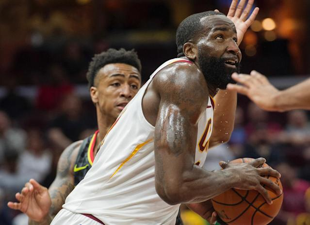 The Cavaliers reportedly signed Kendrick Perkins, who hasn't played an NBA game in two years, to their playoff roster Monday. (AP Photo/Phil Long)