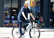 <p>Owen Wilson is almost unrecognizable while taking his bike for a spin in New York City on June 28.</p>