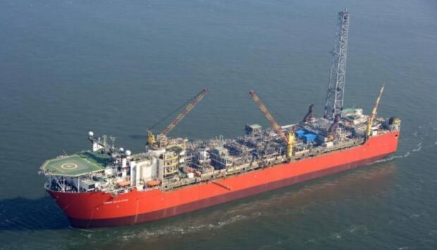 The Terra Nova FPSO is pictured here on the Grand Banks in offshore Newfoundland and Labrador. The vessel has not produced any oil since late 2019, and the future of the Terra Nova oilfield is expected to be revealed on Tuesday. (Canada-Newfoundland and Labrador Offshore Petroleum Board - image credit)