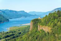 """<p>The dazzling Art Nouveau structure that is the <a href=""""http://oregonstateparks.org/index.cfm?do=parkPage.dsp_parkPage&parkId=108"""" rel=""""nofollow noopener"""" target=""""_blank"""" data-ylk=""""slk:Vista House"""" class=""""link rapid-noclick-resp"""">Vista House</a> deserves a much better designation than """"rest stop."""" It's not just because of the majestic architecture, but for that incredible view from atop the Crown Point promontory.</p>"""