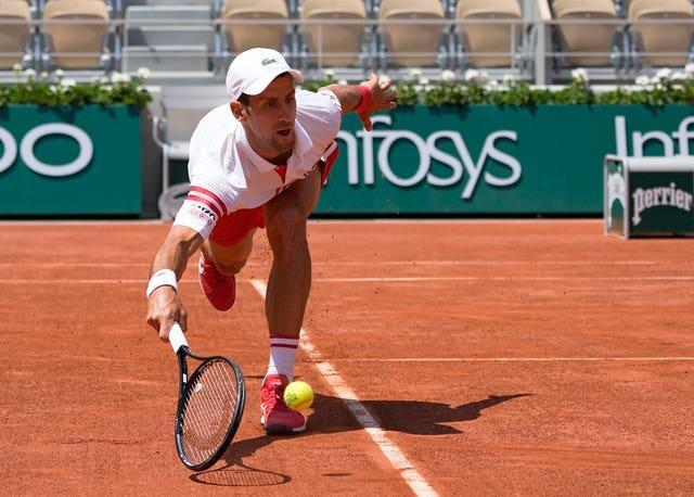 Novak Djokovic was in trouble at two sets down to Lorenzo Musetti